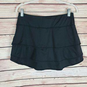 ATHELTA Black Skort Tiered Golf Tennis Skirt S
